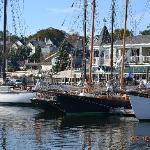 Windjammer schooner in Camden Harbor