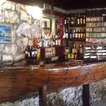 The indoor bar (made from an old shipwreck)