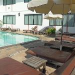 I Loved The Pool!  It has a Ledge that You Can Lay Down on under the Water & Rest Your Head on t