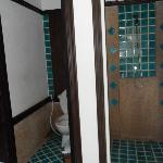Teak Bathroom Fully Equipped in the Pool Area...