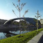 pedestrian bridge, madrid rio