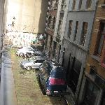 View of alley from room