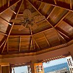 I was very impressed with the craftsmanship of wood here. This was the ceiling in my room. You c