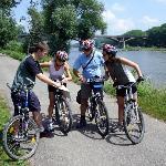 Bikers by Vltava river