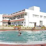 enjoy in swimming pool