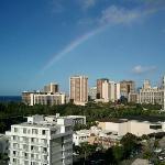 虹がでてました