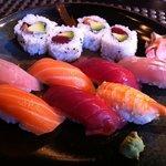 Parte del menú Sushi