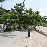 stairs to Aonang beach, people goes more far end