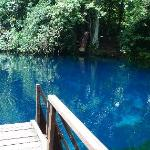 another blue hole, on the way to Champagne Beach