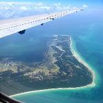 Holbox MAP view from the airplane