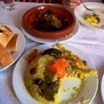 Chicken Couscous (front) and Lamb Tajine (back)