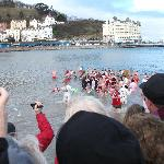 The Boxing day swimmers