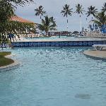 Vista das piscinas para a prais