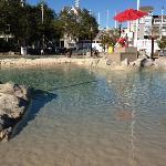 sand bottom pool