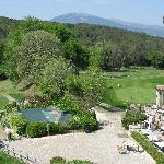 Views to the club house and golf coourse
