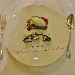 Dessert: Mohntorte,Feige,Basilikumeis