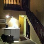 up to loft/bedroom area