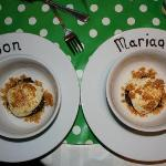 Gateau chocolat noisette served with a lovely message for the engaged couple!