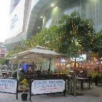 Terrace outside of Hog's Breath Cafe Saigon