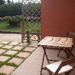 terraza a pie de jardin