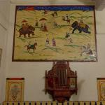 Large typical wall paintings in bedroom