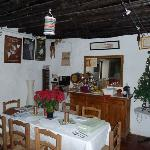 Dining room with flamenco memorabilia