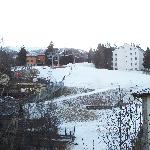 view from our balcony to the ski slope