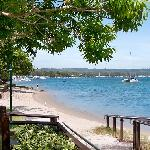 Noosa River just across the road.