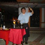 LALO PREPARING HIS FAMOUS LALO'S SHRIMP  TABLESIDE