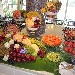 Tropical fruits on the buffet