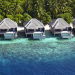 Aerial view of Water Villas