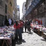 Sunday street markets one block away
