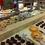 Scrummy deserts. Lots to choose from