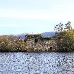 Loch An Eilein castle - a ruin on a small island