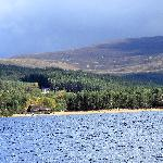 Spectacular setting for Loch Morlich watersports centre - beach, forest and mountains