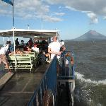Isla de Ometepe from ferry boat.