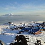 Descendo de telesilla o Vulcão Osorno