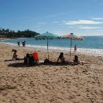 Stranden nedanför hotellet