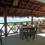 Restaurant Terrace on the beach