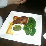 Steak with Spinach and Chimichurri sauce