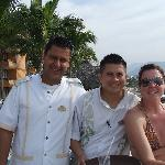 Manuel - our bartender (middle)