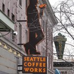 Cool sign at Seattle Coffee Works
