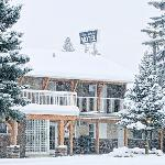 Swiss Chalet Motel Exterior - Winter