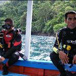 Me and dive master from YOS dive