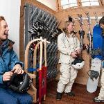 Deposito sci con scaldascarponi