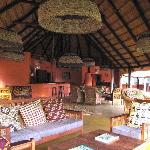 Inside the main lodge