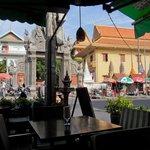 Looking across at Wat Langka