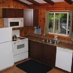 typical upgraded deluxe cottage kitchen