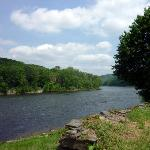 Delaware River from the back lawn of the Inn