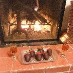 Romantic sherry by the fire!
